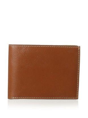 53% OFF Trafalgar Men's Milled Leather Slimfold Wallet (Tan)