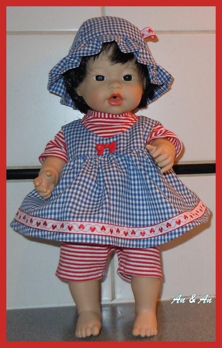 jurk met hoedje, shirt en legging
