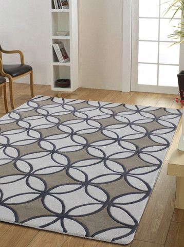 Saxon Handtufted Rug, in Multiple Sizes & Colours - Complete Pad ®