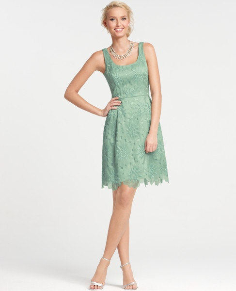Love the color tooSpring Dresses, Neck Bridesmaid, Bridesmaid Dresses, Embroidered Scoop, Bridesmaid Colors, Scoop Neck, Anne Taylors, Lace Dresses, Bridesmaid Beautiful