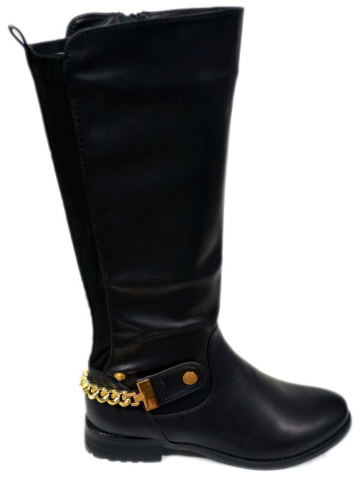 Dames Hoog Laarzen met Goude Ketting DHL027  Modedam.nlDames collectie hoge laarzen. Ontdek een ruime selectie van laarzen en bekijk ons geweldig aanbod van glamourious schoenen.