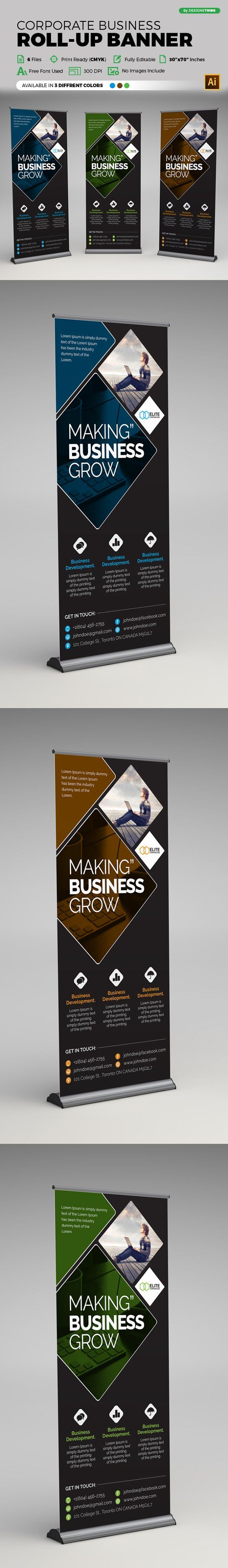 Corporate Business Roll-up Banner by Design'sTRIBE on @creativemarket