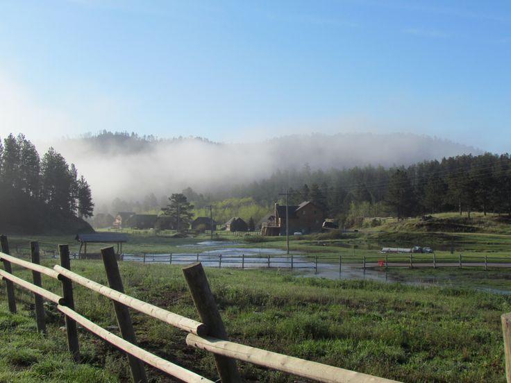 Morning fog lifting