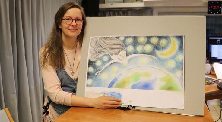 Evelina Lindahl ger ut en barnbok i vår. Här med en illustration från boken. Foto Nina Smeds ÅRTV