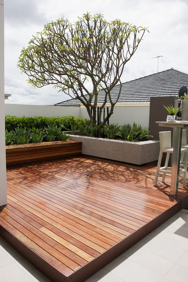 Deck Planters Deck Contemporary with Built in Bench Concrete Planter Decking Outdoor Bar Outdoor Counter Stool Outdoor Stool
