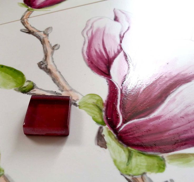 selection of color to painted magnolia