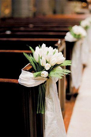 wedding church tulip aisle decor - brides of adelaide