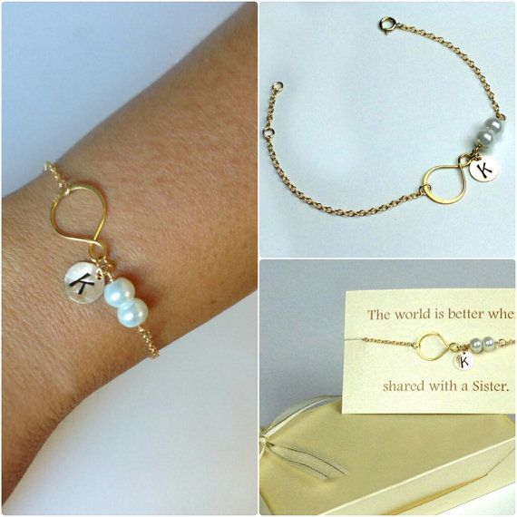 Sister bracelet. Gold filled Infinity bracelet. personalized infinity bracelet, mother bracelet, best friends bracelet.