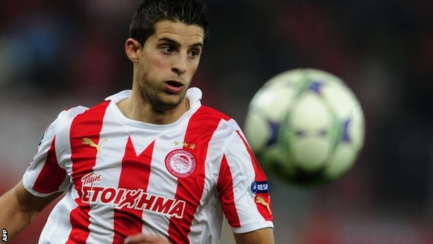 """Kevin Mirallas Everton have conclude a transfer deal for Kevin Mirallas on a four-year deal from Olympiakos for a fee of about £6m. 24-year-old Mirallas has potential of playing both up front and out wide, and scored 20 goals in 25 appearances last season. """"I am very happy because Everton is a big"""