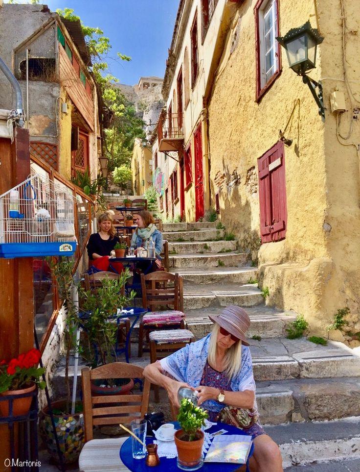 Small cafe at Plaka,Athens,Greece