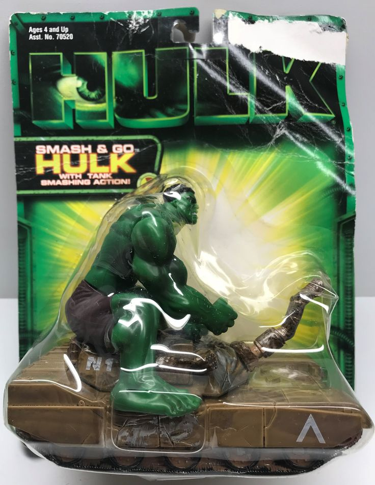 This just in at The Angry Spider Vintage Toy Store: TAS037946 - 2003 ...  Check it out here! http://theangryspider.com/products/tas037946-2003-toy-biz-smash-go-hulk-with-tank?utm_campaign=social_autopilot&utm_source=pin&utm_medium=pin