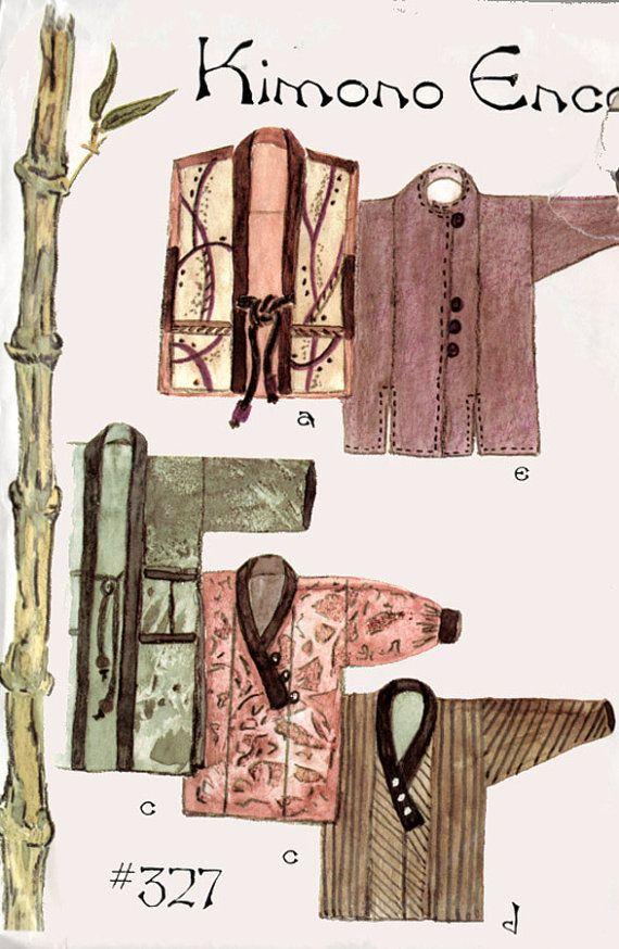 Kimono Encore Lois Ericson kimono jacket shirt robe by sandritocat, $14.00