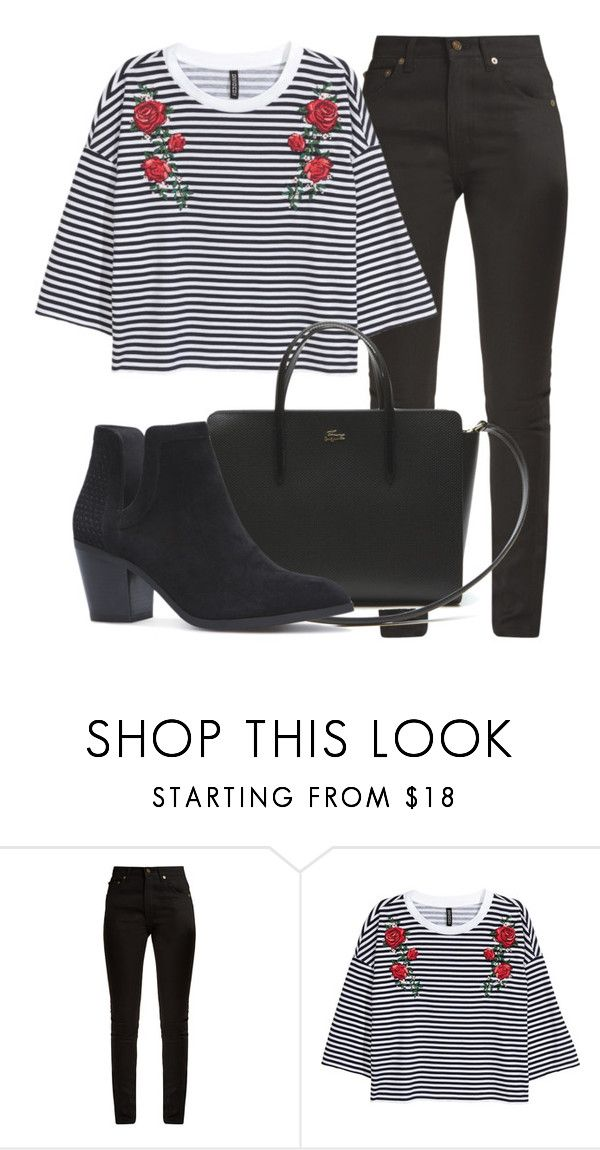 """Outfit #1800"" by lauraandrade98 on Polyvore featuring moda, Yves Saint Laurent y Lacoste"