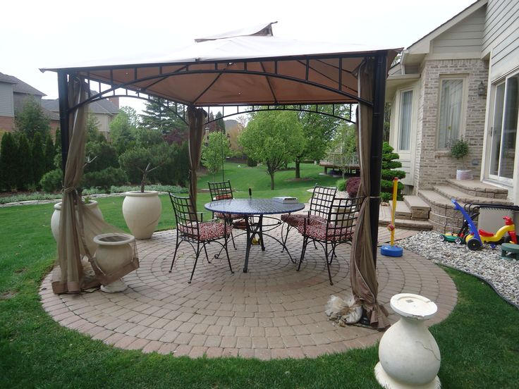 Outdoor Canopy Gazebo Fancy White Executive Black Outdoor