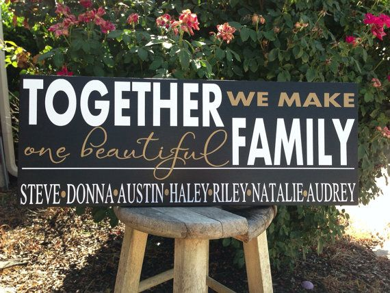 For those who have a blended family with different last names, this option is for you.  9x24 comes in your choice of background color for the