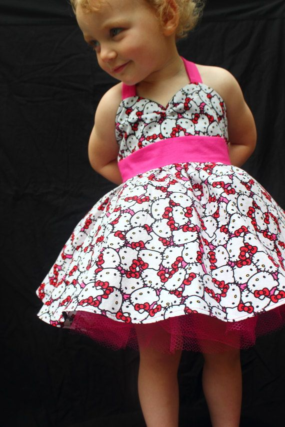 My girl would look adorable in this!! Rockabilly Hello Kitty Dress Pink by DarlingInDisguise on Etsy