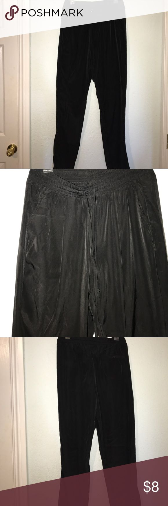 Black or Green Pants I am selling two pants: black and military green pants... I would use them as slacks because they are dressy pants but not slacks... confusing I know lol... very good condition only used twice Pants Ankle & Cropped