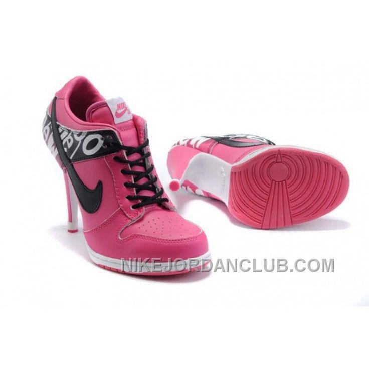 Women's Nike Dunk High Heels Low Shoes Pink/Black/White Cheap To Buy, Price: 65.82€ - Nike Shoes for Men, Women & Kids, Air Jordan Shoes | NikeJordanClub.com