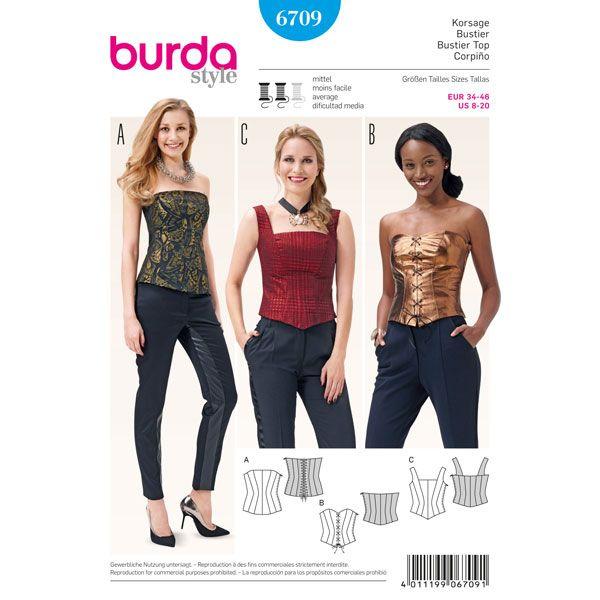 Corset, Burda 6709
