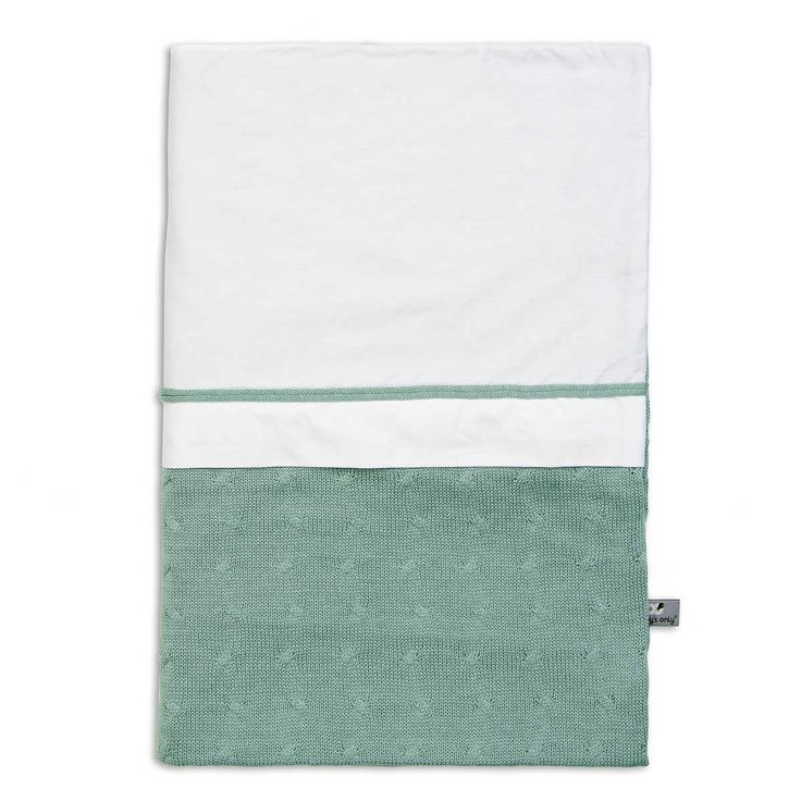 Cable Uni - Duvet cover 135x100 - sea green by Baby's Only - www.babysonly.nl
