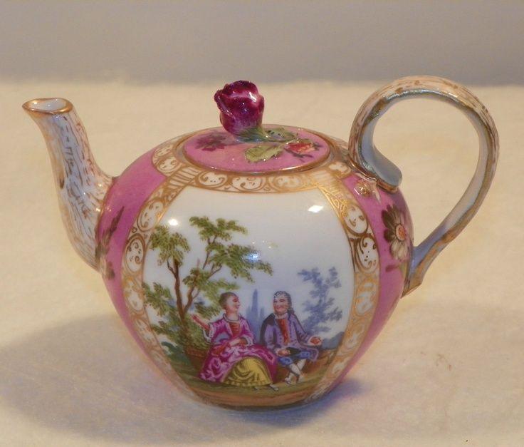 Small Tea Pot. German Dresden Porcelain. Circa 1910.   eBay