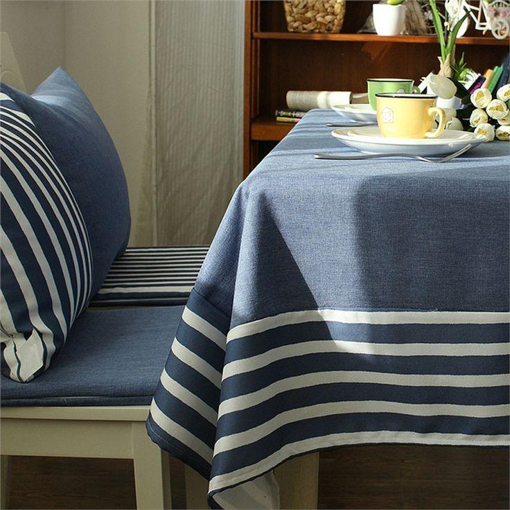 テーブルクロス テーブルカバー 撥水加工 リネン 地中海風 140*180cm 6人掛け用 TC015