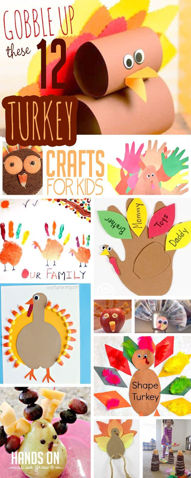 12 Turkey Crafts For Kids To Gobble Up Crafts Thanksgiving