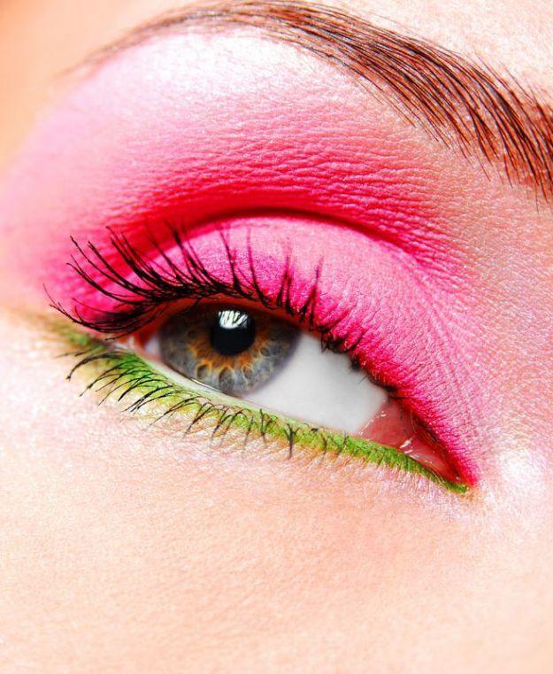 Яркий летний макияж для серых глаз ::: onelady.ru ::: #makeup #eyes #eyemakeup