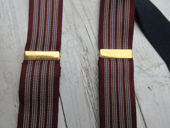 137.36 kr. Woven Stripe Campaign Suspenders Adjustable Braces by Onebluenote