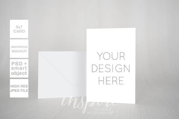 5×7 Card or Invitation Mockup Bundle / Styled Stock Photography /Minimalist Nordic Style / PSD Smart Object + High Res Jpeg /Multiply design