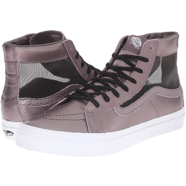 Buying New Womens Casual Shoes - Vans Sk8 Hi Slim Cutout (Mesh Metallic) Thistle Purple/True White