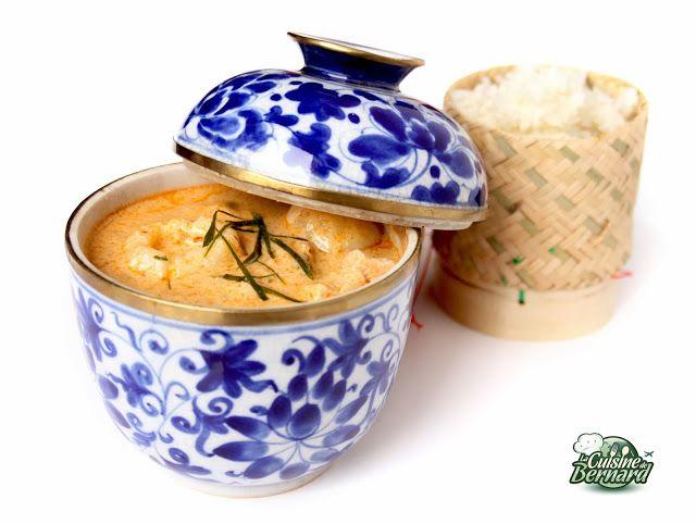 Curry Panang au porc, litchis et cacahuètes