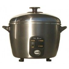 Cookware:10-cups Stainless Steel Rice Cooker / Steamer