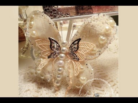 ▶ Lace Butterfly Tutorial - YouTube