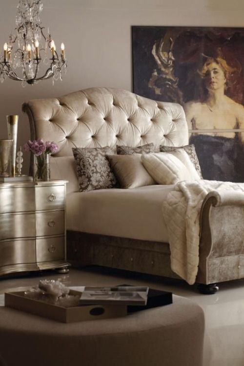 A romantic setting in the bedroom is the perfect design concept for newlyweds!