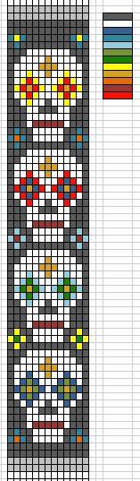 Sugar Skull Weaving Chart – Boston Bead Company