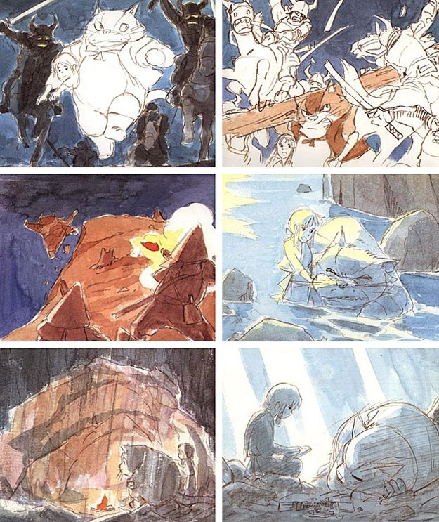 98 Charming Concept Sketches From Miyazaki Movies ✤ || CHARACTER DESIGN REFERENCES | キャラクターデザイン •