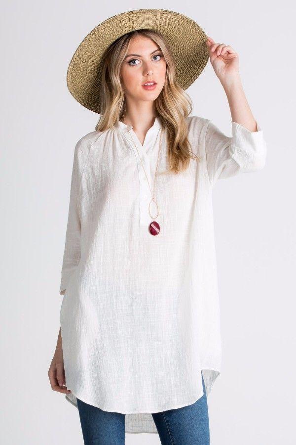 Tracy Cotton Tunic - Off White
