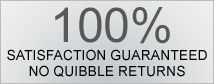 Please ask us today about our absolute 100% no quibble returns!!