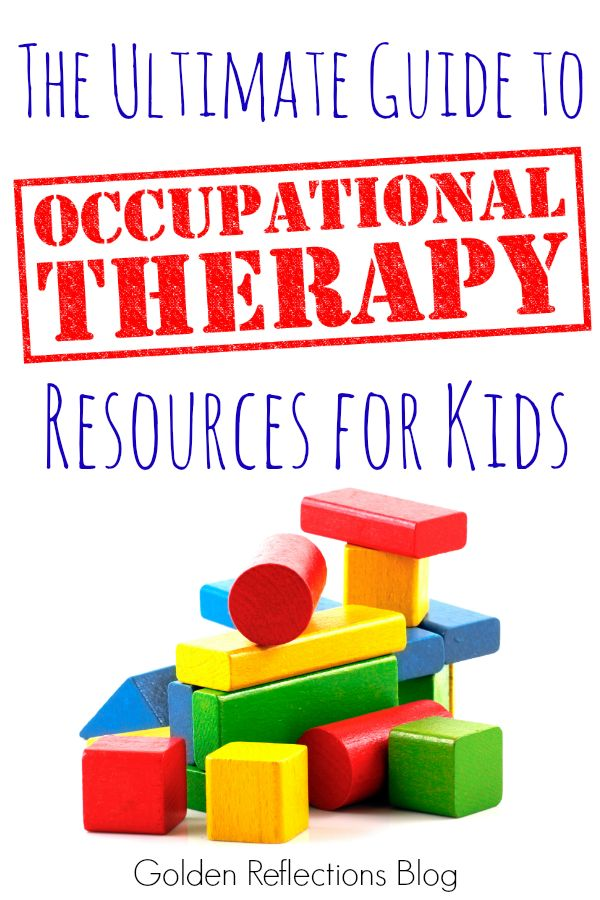 A huge list of Occupational Therapy resources for kids, perfect for parents and therapists. www.GoldenReflectionsBlog.com