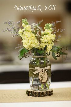 Mason Jar Centerpieces | Mason Jar Centerpiece:What do you think? - Advice - Project Wedding ...