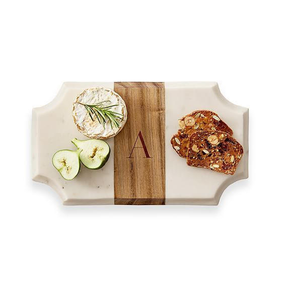 Wood And Marble Cheese Board Beveled Large Rectangle Gift Ideas
