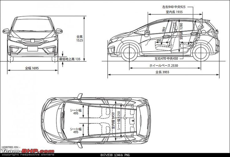 Image result for honda jazz dimensions