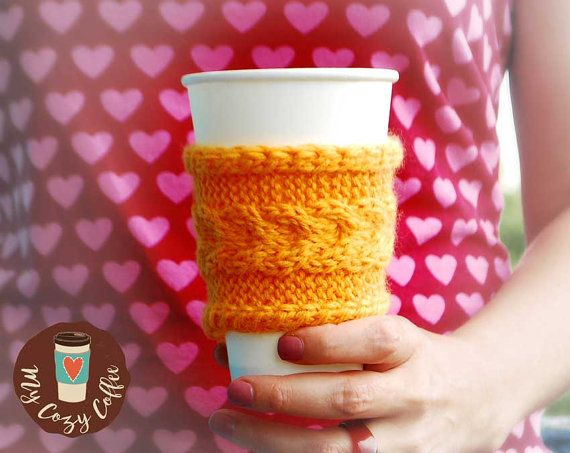 Coffee cozy Coffee sleeve Coffee cup cozy Knitted cup cozy Tea cozy Gifts under…
