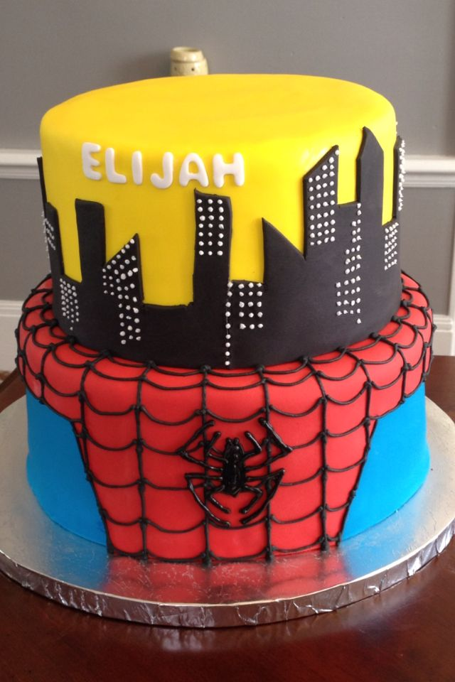 Spider Man Marvel Cake Fondant Party My Cakes