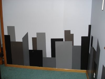 1000 images about superhero room on pinterest for Cityscape mural
