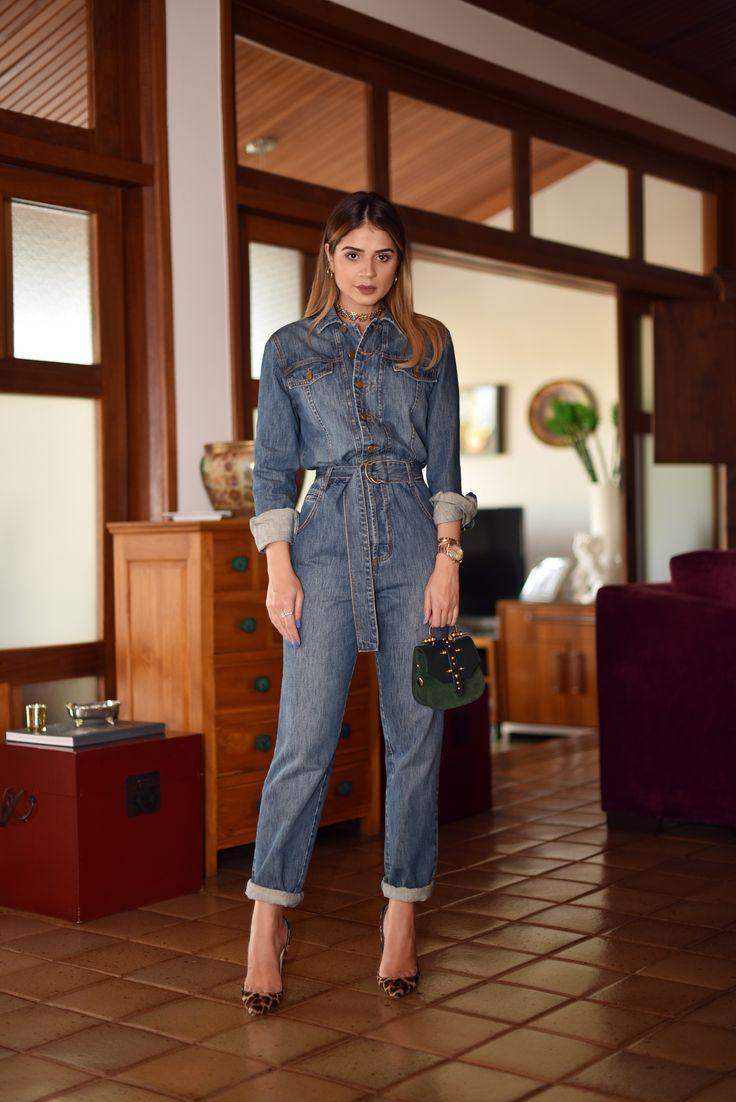 Clássico macacão jeans