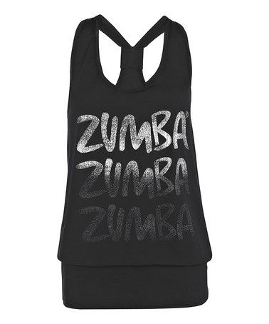 Take a look at this Black Radius Bubble Tank by Zumba® on #zulily today!