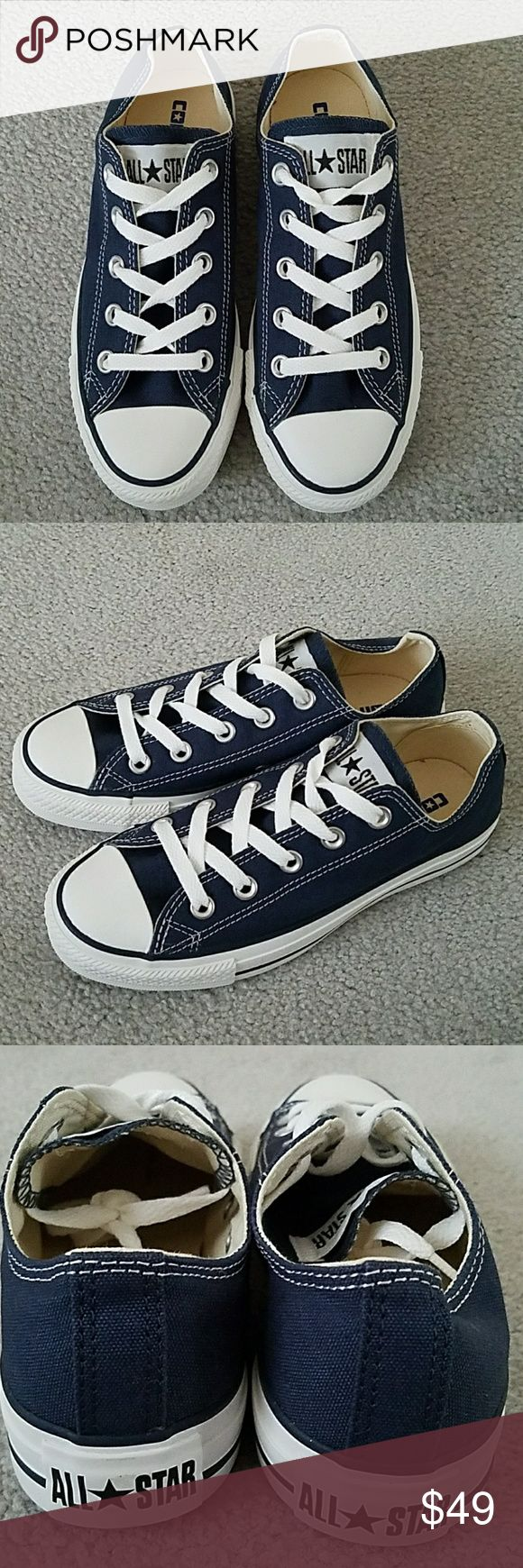 Converse All Star OX Low - Navy Converse All Star OX Low Color: Navy  Brand new, never worn Converse Shoes Sneakers