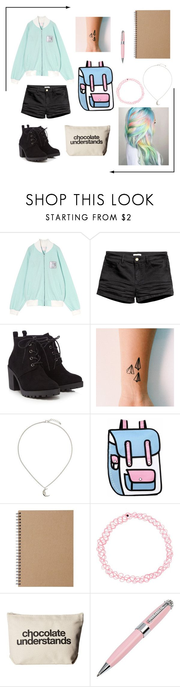 """""""thing /12"""" by keepmarchingon ❤ liked on Polyvore featuring Red Herring, Topshop, Muji, Dogeared and ICE London"""